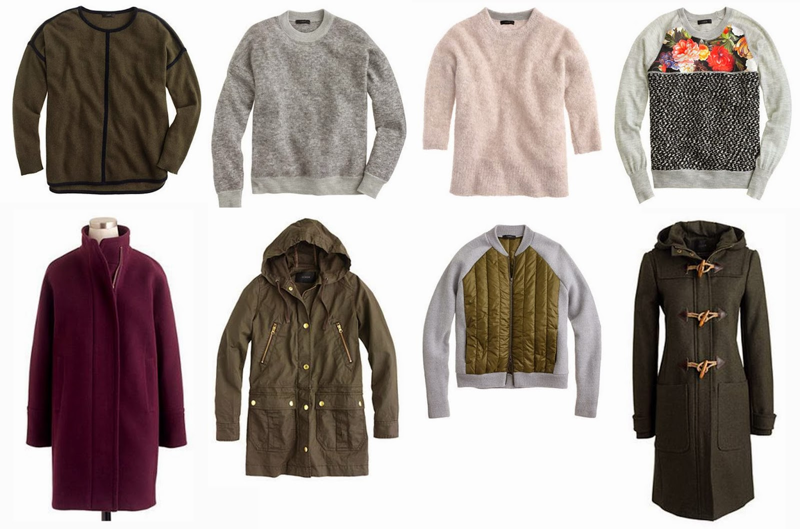 wish list sweaters and jackets