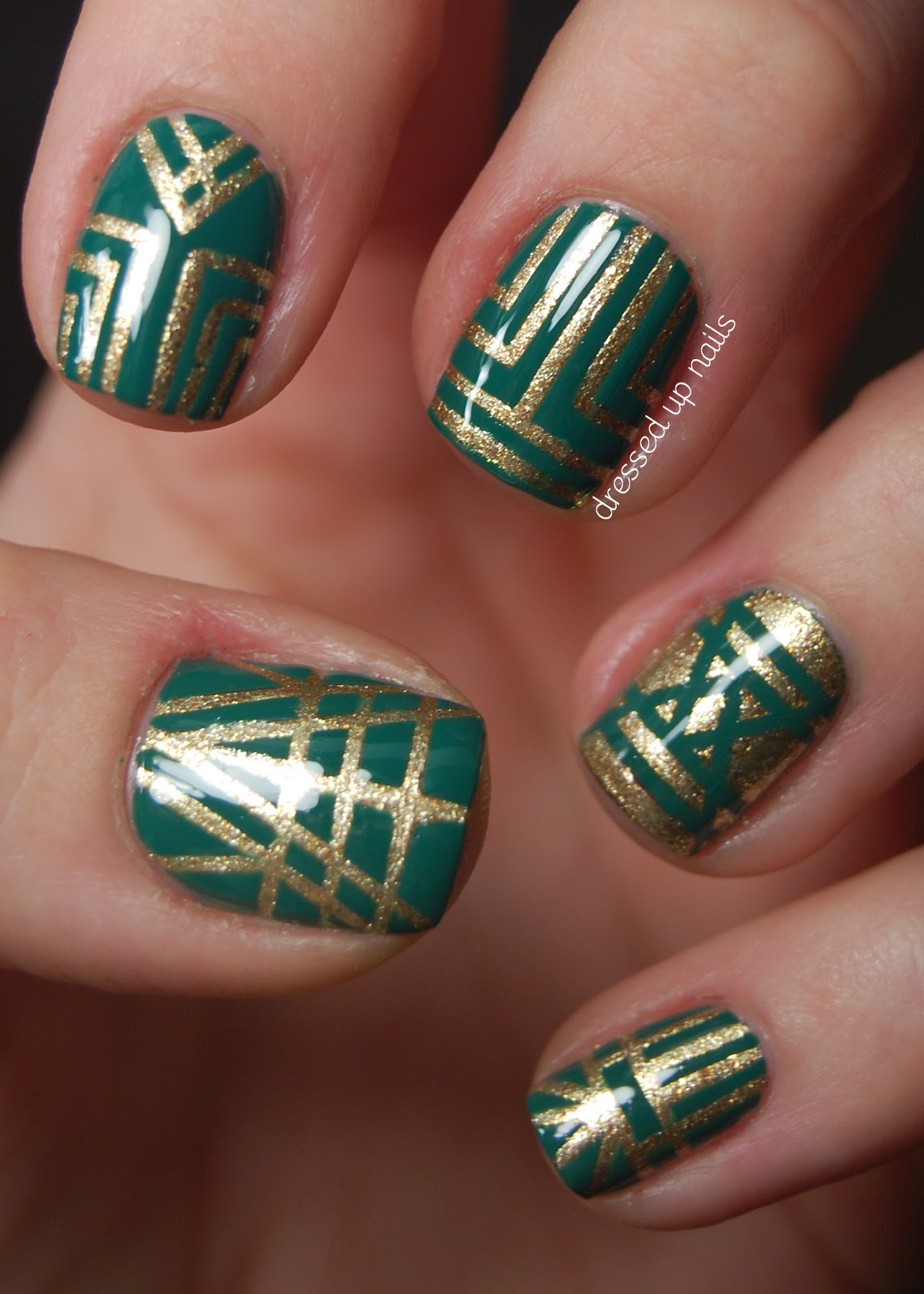 These nails also fit the theme of emerald nail art day which brittney