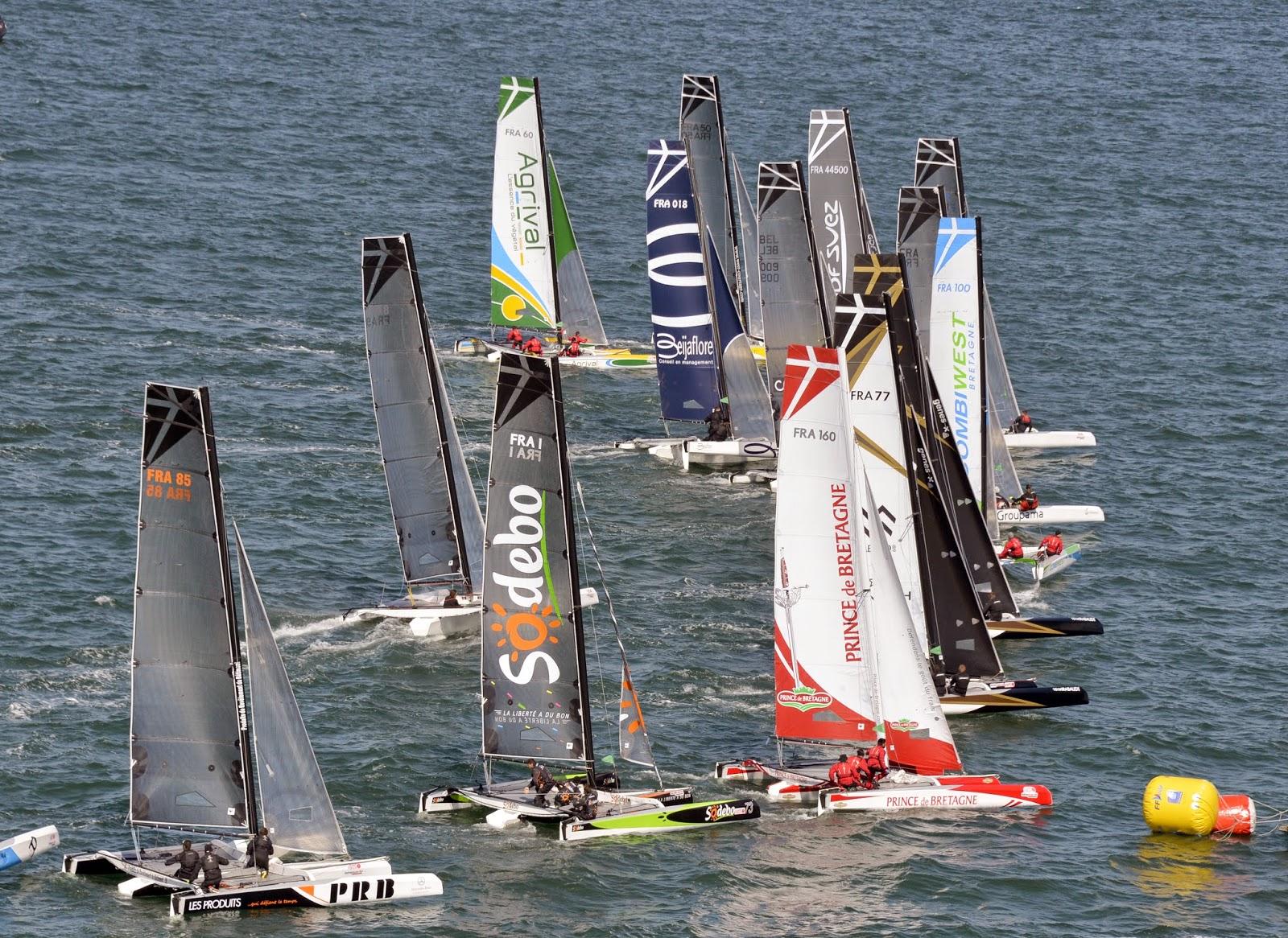 La flotte des Diam 24 au Spi Ouest France.