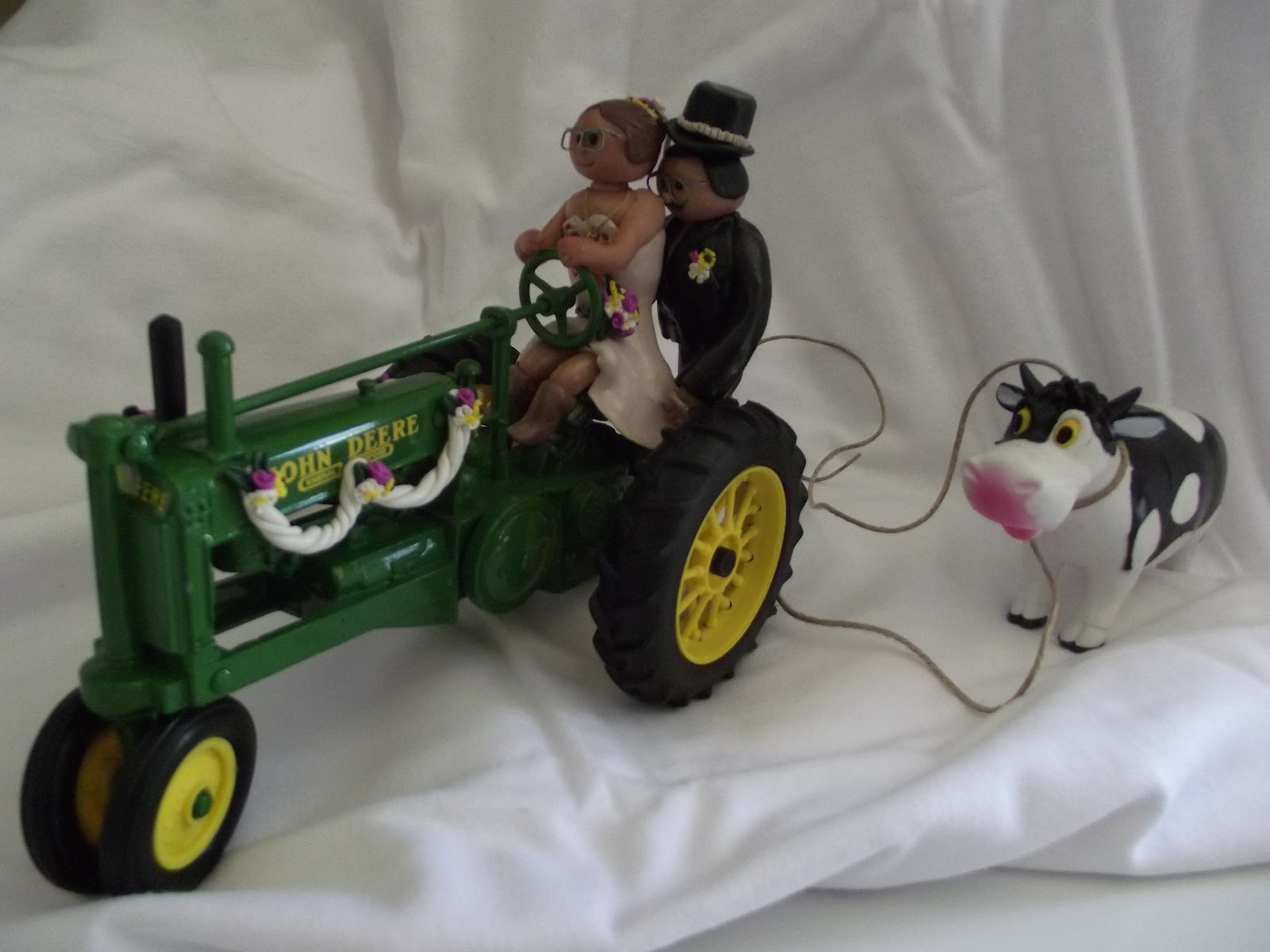 This is a photo of Luscious John Deere Cupcake Toppers