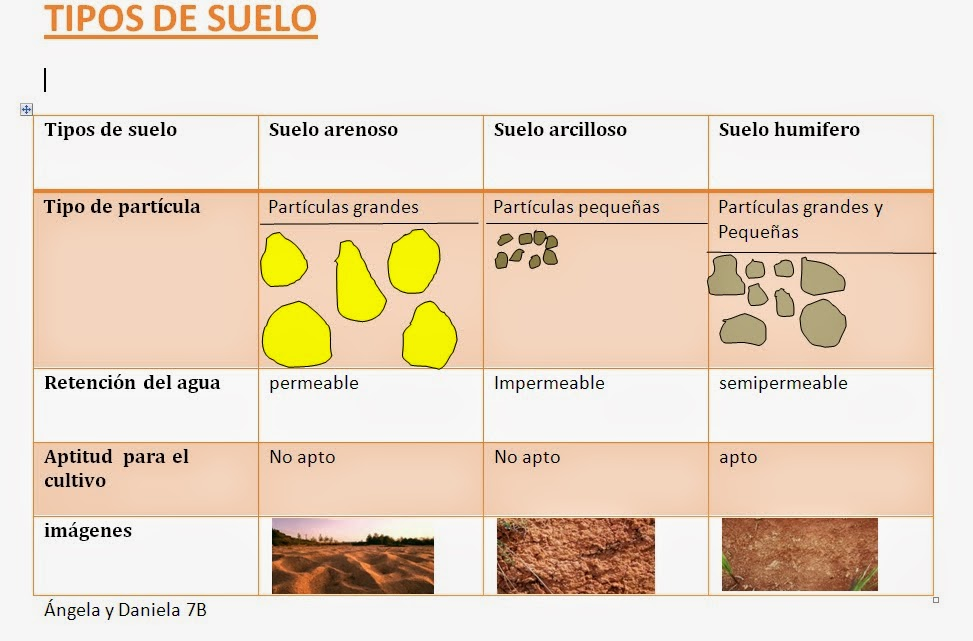 Bitacora de angi tipos de suelos for Tipos de cuadros