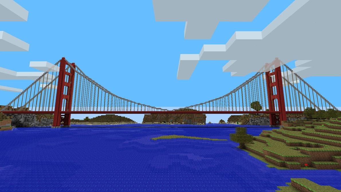 for those times when you are too lazy to swim - Minecraft Japanese Bridge