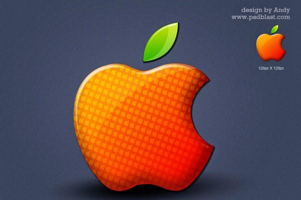 Glossy Apple Icon PSD