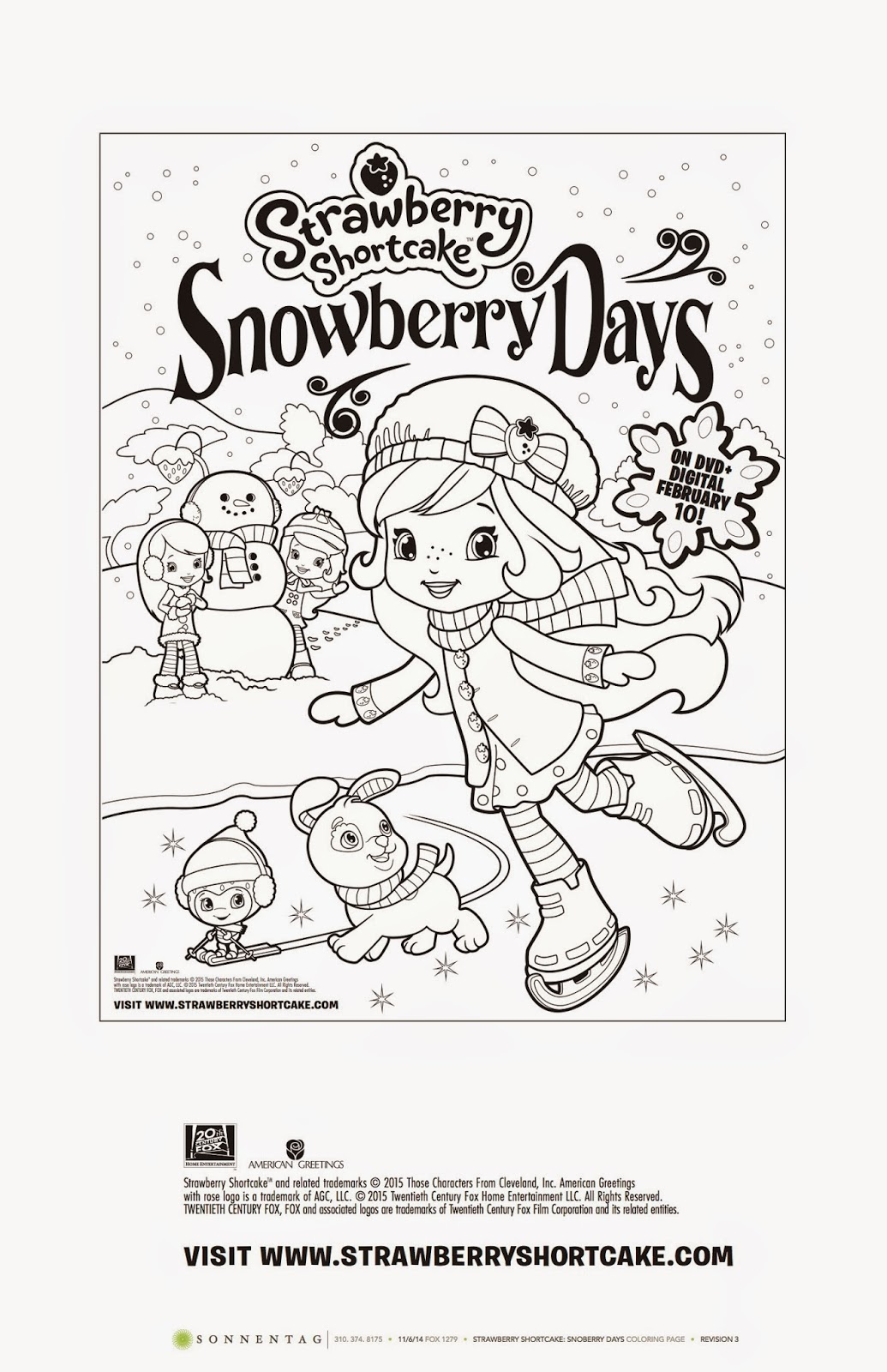 strawberry shortcake snowberry days coloring sheet u0026 giveaway