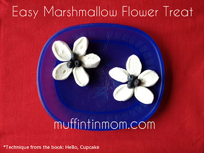 marshmallow flower snack
