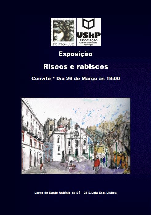 """EXPOSIÇÃO USkP """"Riscos e Rabiscos"""" - 26.mar a 17.mai 2015"""