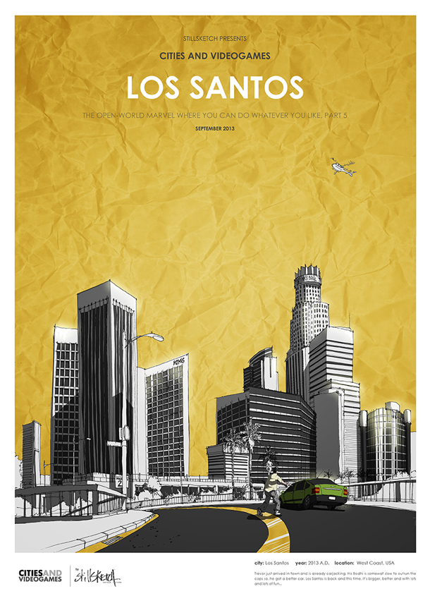 "GTA V - ""Cities and Videogames"" - Stillsketch"
