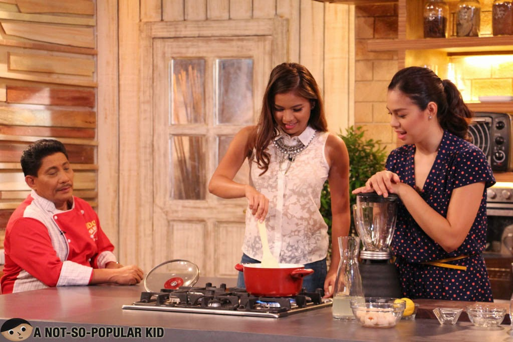Chef Boy Logro with Bettinna Carlos and Louise Delos Reyes