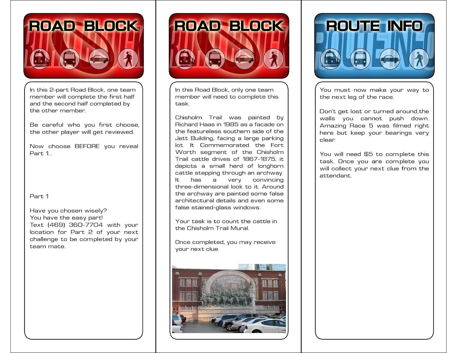 Amazing race ideas - Trinity Baptist Amazing Race Ft Worth Edition 2012