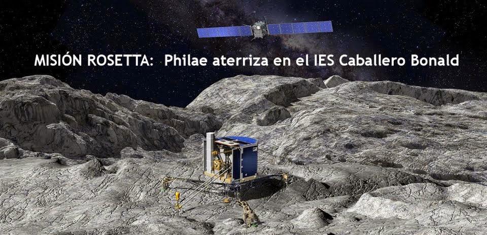 Misión Rosetta: Philae aterriza en el IES Caballero Bonald