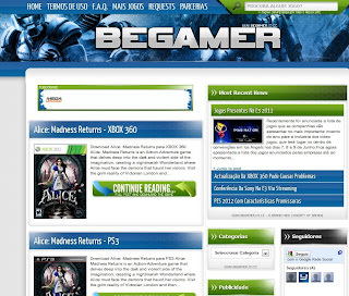 Download Template Site de Games,Baixar Template Gamer