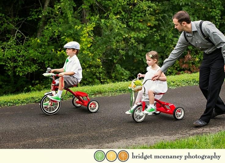 bicis para los niños en las bodas