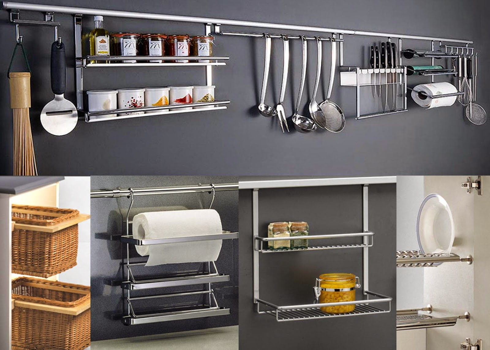 Dwell of decor 30 smart ideas for decorating kitchen walls for Smart kitchen accessories