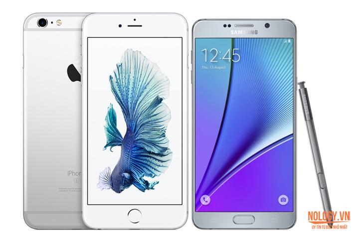 Samsung Galaxy Note 5 đọ sức với Iphone 6s Plus
