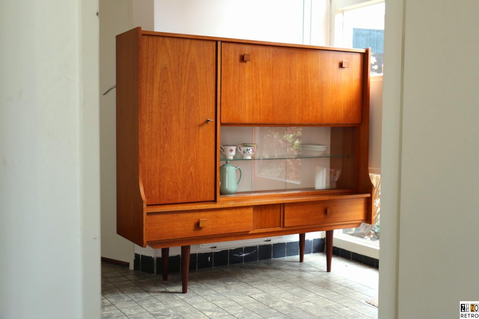 Retro buffetkast jaren 60 for Vintage meubels