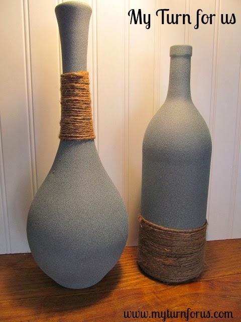 faux granite designer jute wrapped bottles