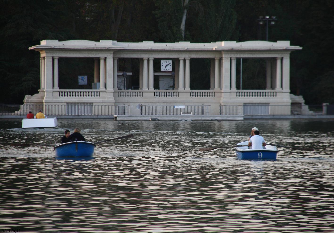 Madrid en foto parque del retiro embarcadero del Estanque grande