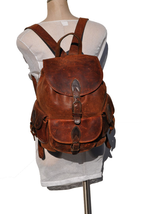 goodbye heart vintage vintage leather backpack. Black Bedroom Furniture Sets. Home Design Ideas