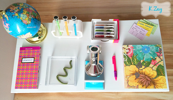 how to make a doll school desk