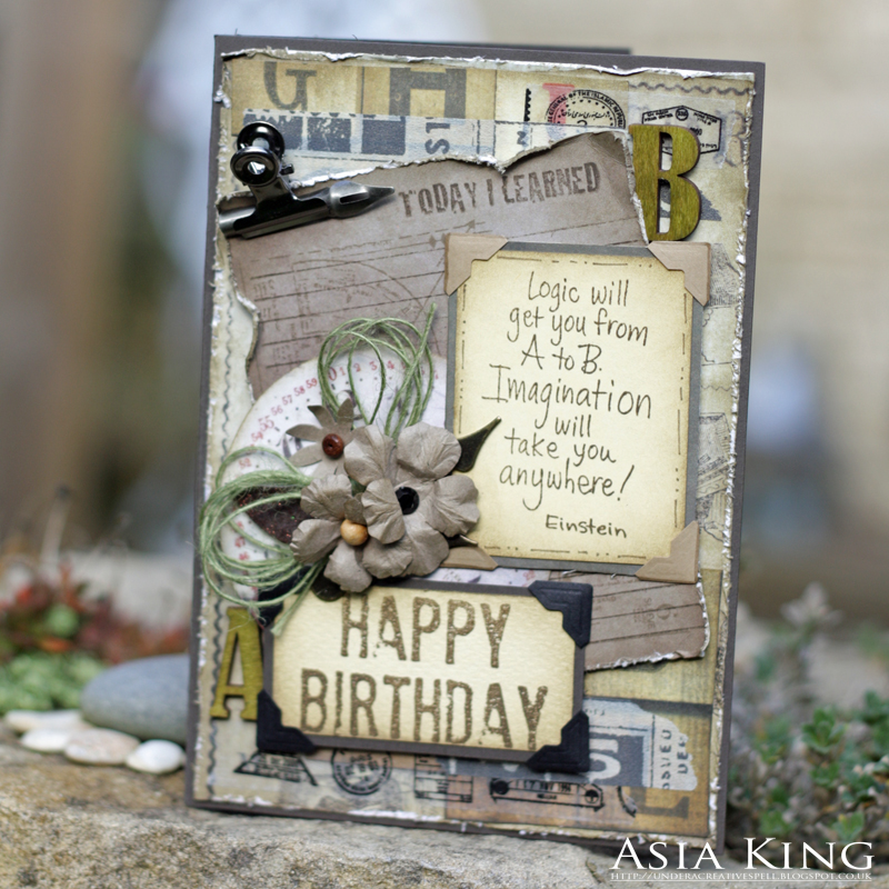 Grunge Birthday Card For Scrapbook Adhesives By 3l And Autumnal