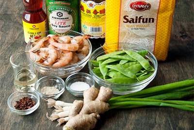 Vietnamese Noodle Recipes - Miến Xào Tôm