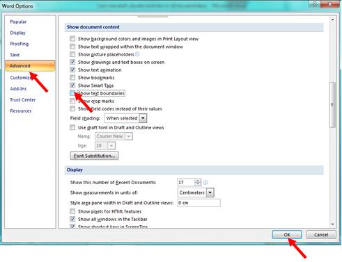 Cara menampilkan garis batas atau text boundaries di Microsoft Word