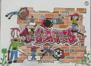 teams mosaic drawing