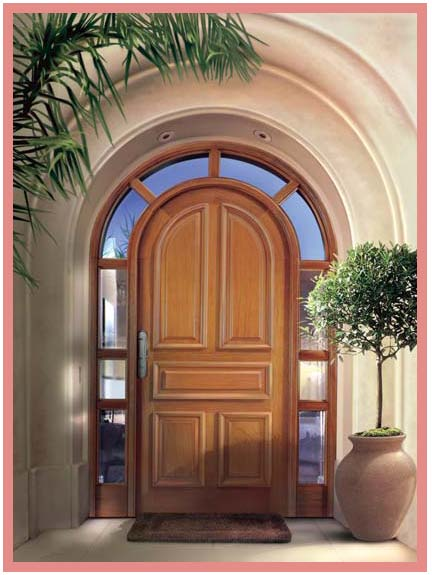 Muebles y modulares puertas y closets for Puertas de entrada de madera y vidrio