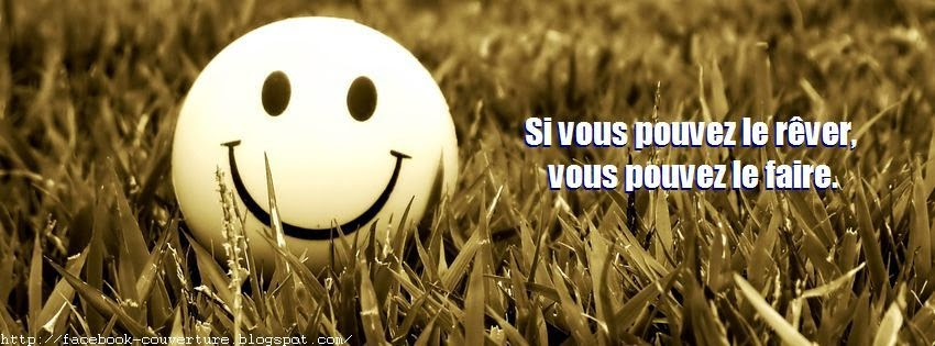 Belle photo de couverture facebook citation positive