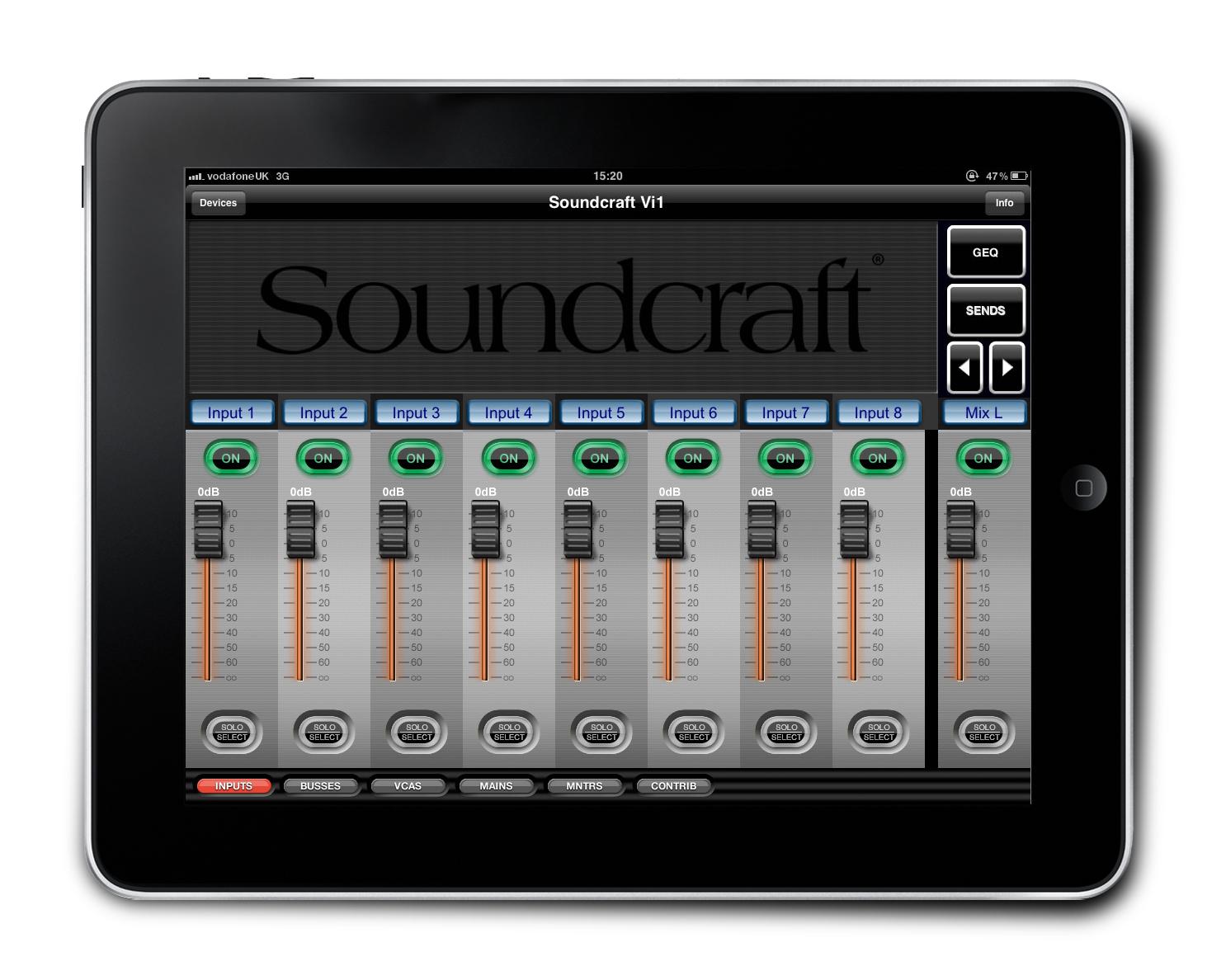 Soundcraft ViSi iPad app