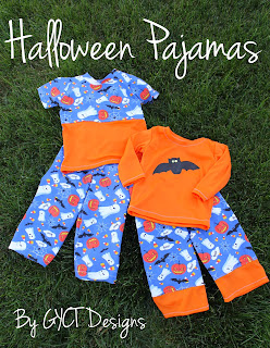 Halloween Pajamas with FREE Bat Template from GYCT