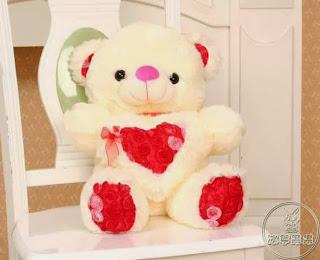 Boneka beruang love 5
