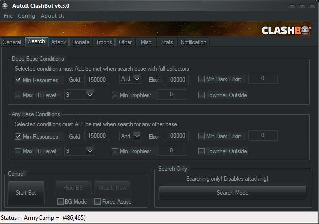 Search Setting Clashbot V6.3.0