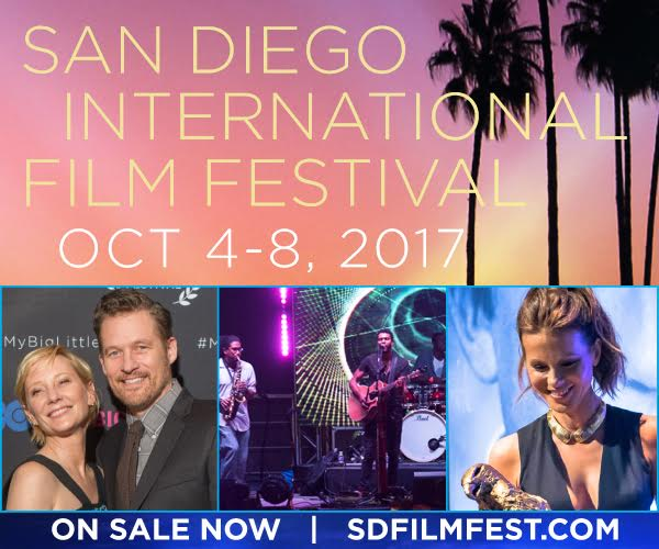Promo code SDVILLE saves 15% on tickets to the San Diego International Film Fest - October 4-8!