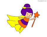 How to draw Fairy for kids