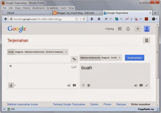 google translate kamus bahasa arab