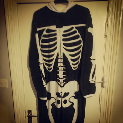 Primark skelleton onesie men