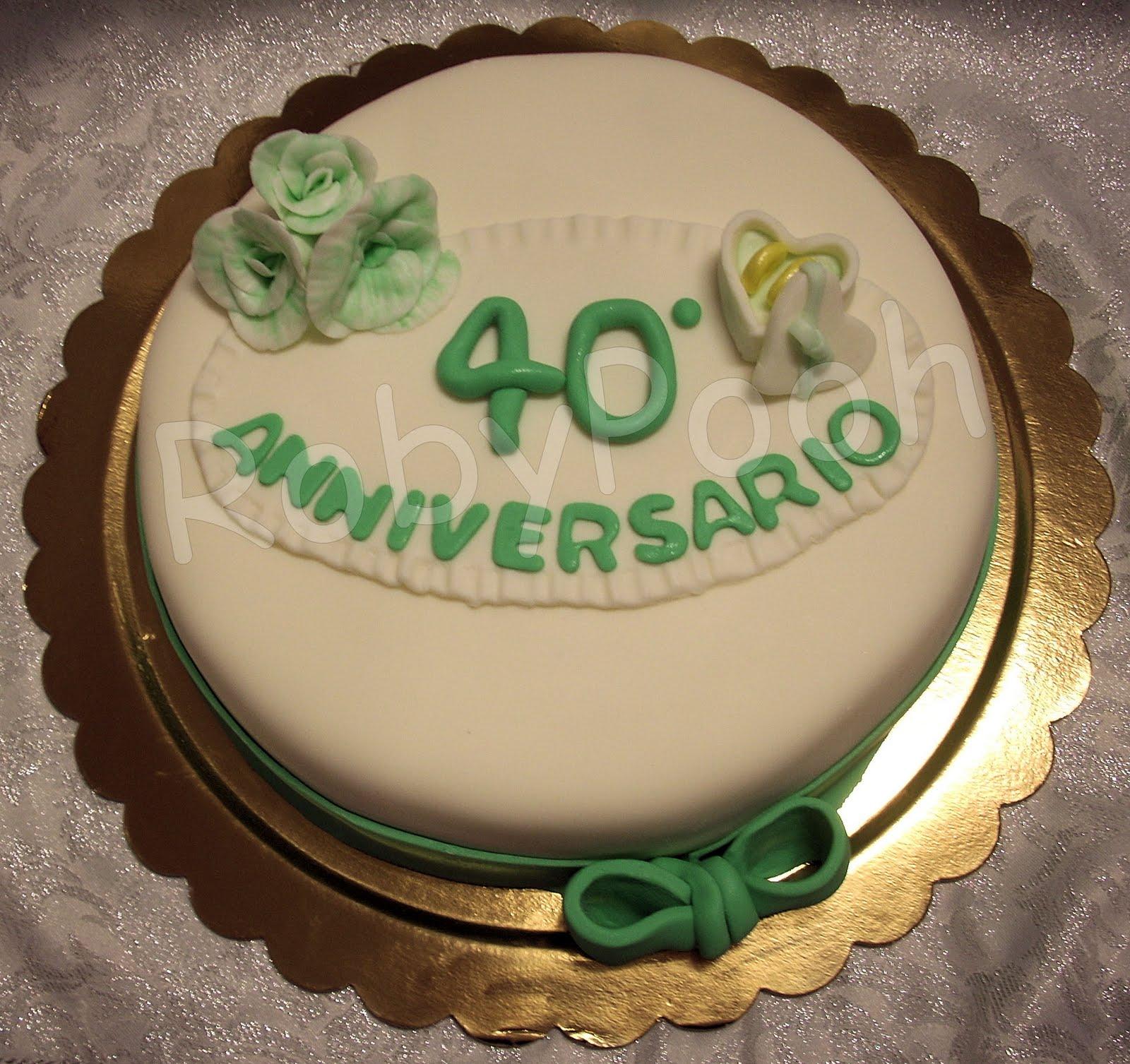 Conosciuto Dolci&Delizie: Torta 40° anniversario di matrimonio IN77