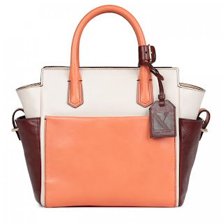 ATLANTIQUE LEATHER TOTE ORANGE