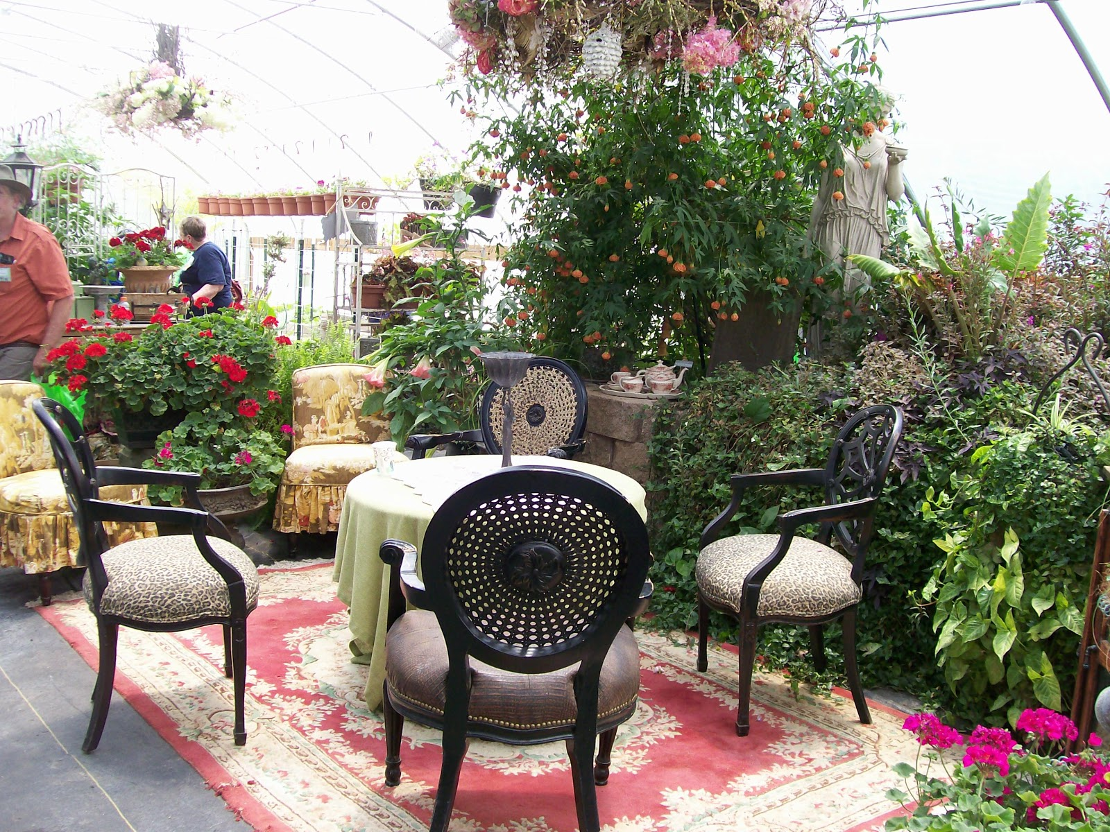 Workbench Area In Covered Center Of The Greenhouse
