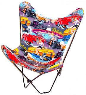 cadeira com estampa juvenil