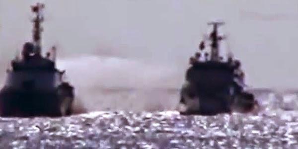 Clip tàu Việt Nam đáp trả tàu Trung Quốc