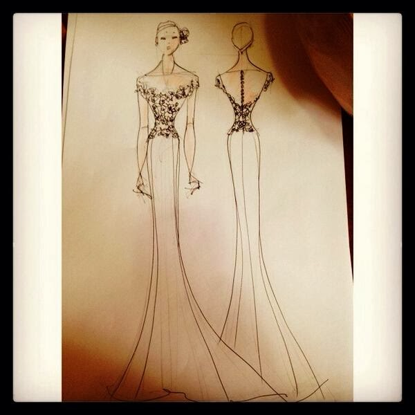 Fille Cainglet's wedding gown