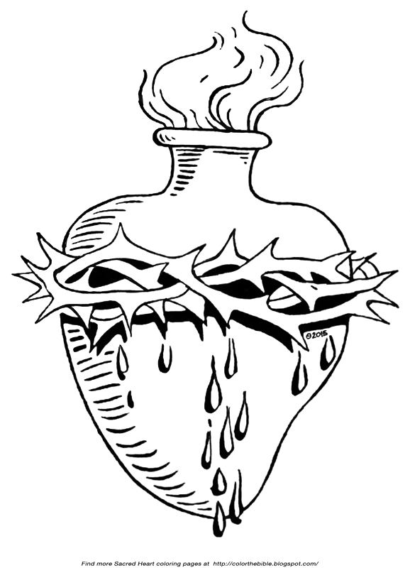 Crown Of Thorns Coloring Page The Sacred With Color Bible
