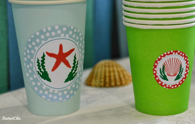 Under the Sea Party cups by Bistrotchic