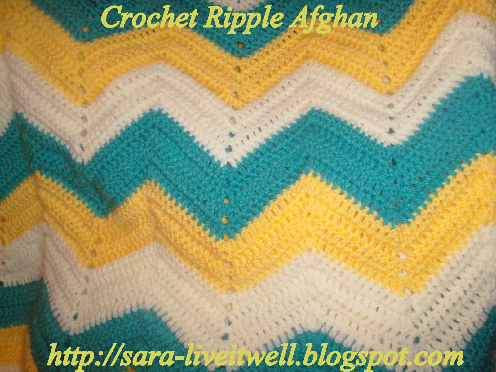 Live It Well Crochet Ripple Afghan