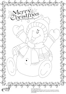 printable snowmen coloring pages for christmas