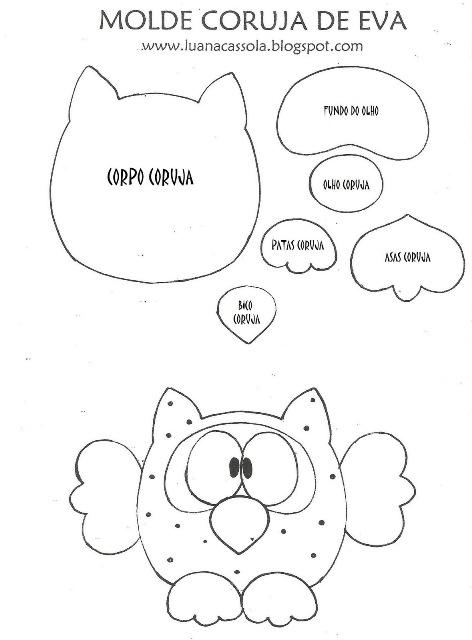 DECOLABORES de Lalena Diseños: MOLDES DE BÚHOS.. QUE LINDOS!!!
