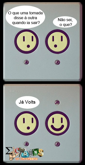 Piada eletrizante.