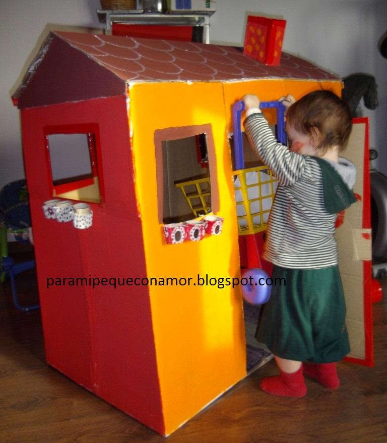 Para mi peque con amor: Casa de cartón para el peque... Consejos para ...